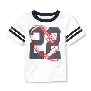 NWT Children's Place Football T-Shirt Top 18-24mo